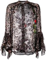 Preen by Thornton Bregazzi floral and snakeskin print blouse - women - Silk/Viscose - XS