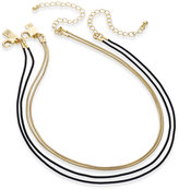 INC International Concepts INC International Concepts, Two-Tone 2-Pc. Set Snake Chain Choker Necklaces, Only at Macy's