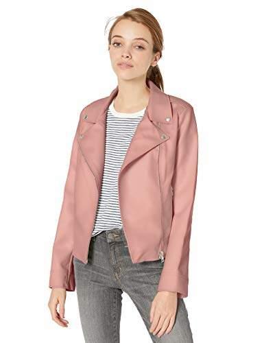 BB Dakota Womens Coming in Hot Soft Lamb Peplum Leather Jacket