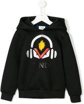Fendi Headphones print hoodie