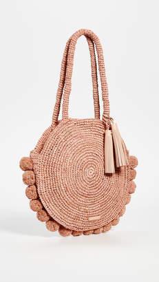 Loeffler Randall Large Straw Circle Tote Bag