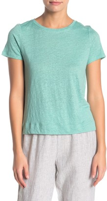 Eileen Fisher Short Sleeve Knit T-Shirt (Petite)