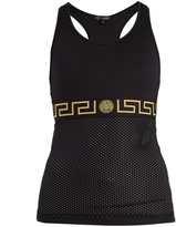 Versace Logo-print mesh-panel performance tank top