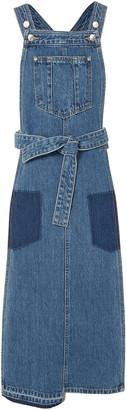 Sjyp Patchwork Denim Midi Dress