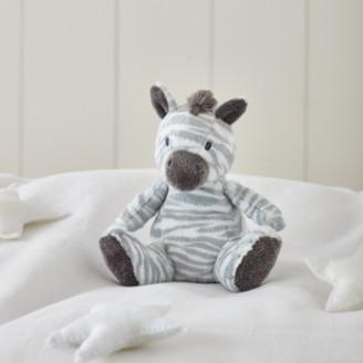 The White Company Zaza Zebra Small Toy, White Grey, One Size