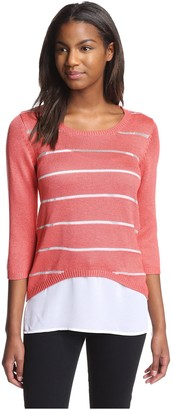 Dex Women's High-Low Sweater with Cami
