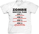 Crazy Dog T-shirts Crazy Dog Tshirts Youth Zombie Survival Plan T Shirt Funny Zombie Attack Shirts for kids M
