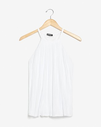 Express Pleated High Neck Tank