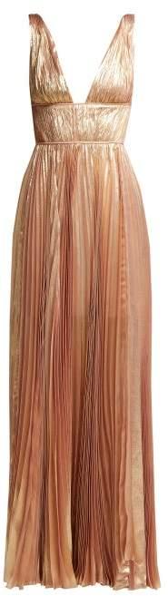 Maria Lucia Hohan Riley Metallic Silk Blend Gown - Womens - Light Pink