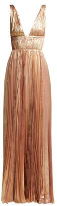 Maria Lucia Hohan Riley Metallic Silk-blend Gown - Womens - Light Pink