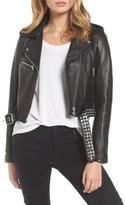 Blank NYC Women's Blanknyc Studded Leather Moto Jacket