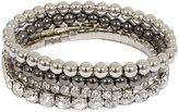 Yours Clothing 4 PACK Silver & Diamanté Stretch Bracelet