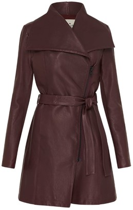 West 14th Washington Drape Trench Shiraz Leather