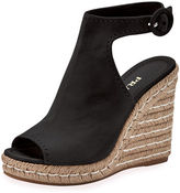 Prada Suede 120mm Espadrille Wedge Sandal
