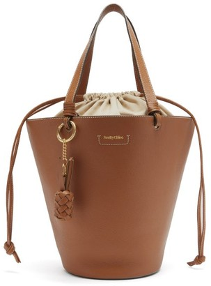 See by Chloe Cecilia Small Grained-leather Bucket Bag - Tan