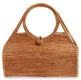Street Level Woven Rattan Handbag