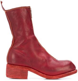 Guidi Calf-Length Zip-Up Boots