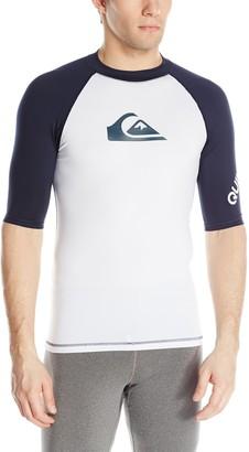 Quiksilver Men's All Time Short Sleeve Rashguard