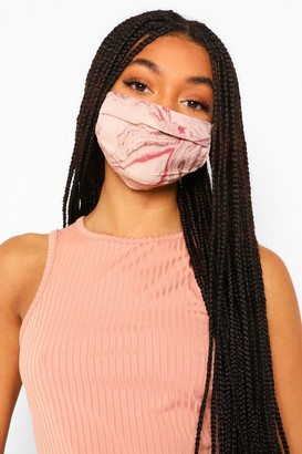 boohoo Marble Print Adjustable Fashion Face Mask