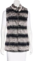 Rachel Zoe Faux Fur Mock Neck Vest