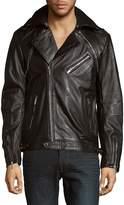 Karl Lagerfeld Men's Full-Zip Moto Jacket