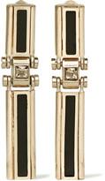 Lanvin Gold-tone, Swarovski Crystal And Resin Clip Earrings - Metallic