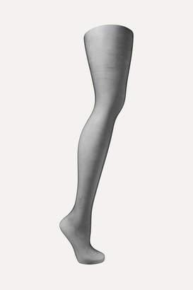 Saint Laurent Crystal-embellished Tights - Black
