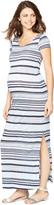 A Pea in the Pod Striped Back Cutout Maternity Maxi Dress