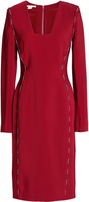 Antonio Berardi Lace Up-detailed Crepe Dress
