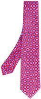 Kiton geometric square print tie - men - Cotton - One Size