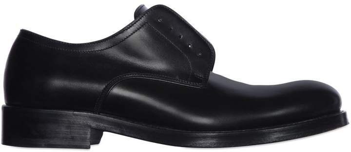 DSQUARED2 Laceless Brushed Leather Derby Shoes
