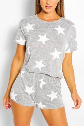boohoo Star Print Short PJ Set