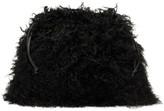 Jil Sander Black Shearling Drawstring Pouch