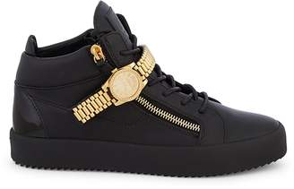 Giuseppe Zanotti Watch Strap Leather High-Top Sneakers