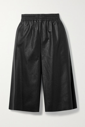 MM6 MAISON MARGIELA Faux Leather Shorts - Black