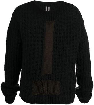 Rick Owens Chunky Knit Cardigan