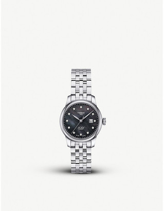 Tissot T006.207.11.126.00 Le Locle diamond, mother-of-pearl and stainless steel watch