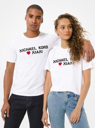 MICHAEL Michael Kors MK Loves Miami Cotton Jersey Unisex T-Shirt