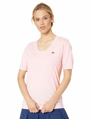 Lacoste Women's Half Sleeve Scoop Neck Tennis Performance Jersey TEE Shirt