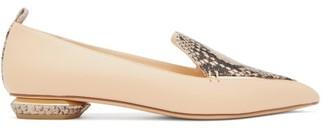 Nicholas Kirkwood Beya Python-print Leather Loafers - Womens - Nude