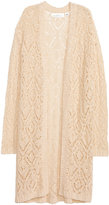 H&M Pattern-knit Cardigan - Natural white - Ladies