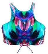 Luli Fama Multicolor Reversible Bralette Swimsuit Glam Gorgeous Chaos.