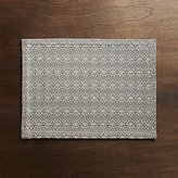 Crate & Barrel Marrakech Grey Placemat