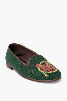 Paige By Fox and Horn on Forest Green Needlepoint Loafers