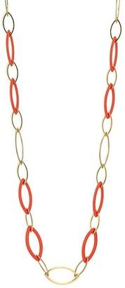 Vhernier Pop 18K Rose Gold & Rebuilt Red Coral Long Chain Necklace