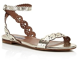 Tabitha Simmons Women's Bobbin Perforated Lace Slingback Sandals