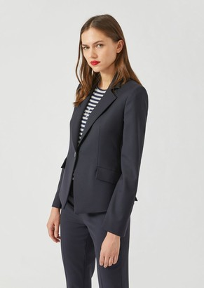 Emporio Armani Slim-Fit Single-Breasted Blazer In Stretch Virgin Wool