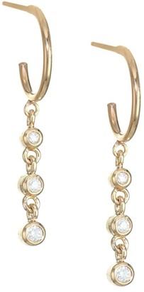 Zoë Chicco 14K Gold & Diamonds Dangle Hoop Earrings