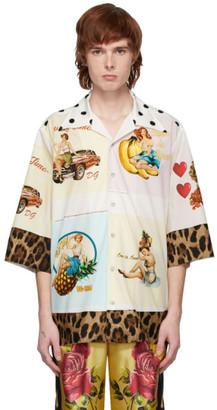 Dolce & Gabbana Multicolor Hawaii Postcard Shirt