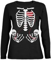 Old Glory Halloween Twin Baby Skeletons Womens Long Sleeve T-Shirt